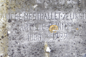 Inscription sur tombe de Mme mestrallet-Zelikson