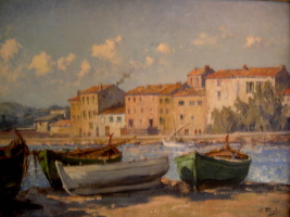 William Thornley, le port de Ste Maxime
